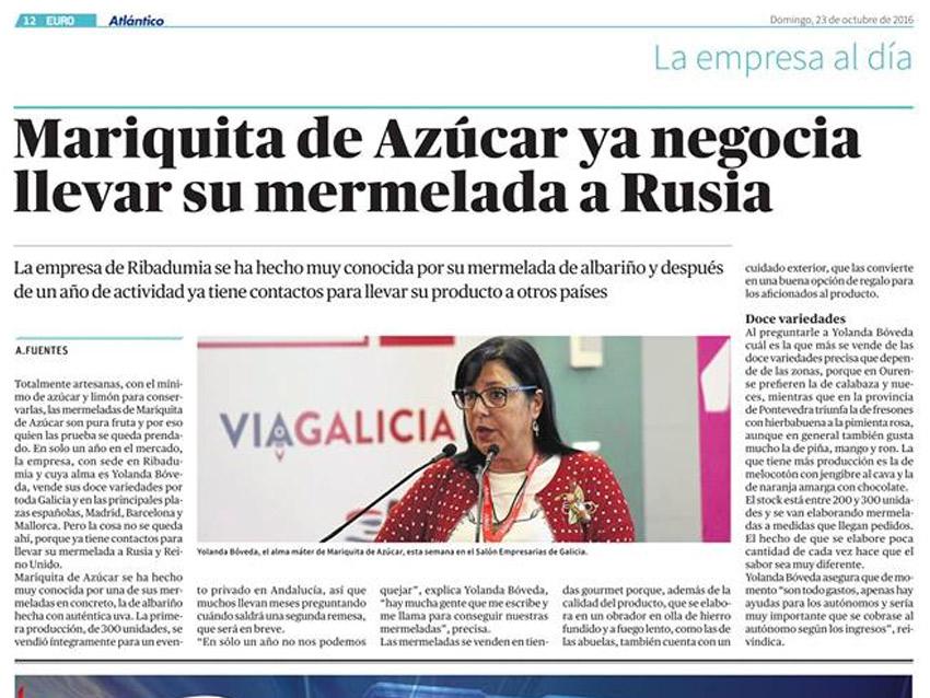 La Mariquita de Azúcar en Atlántico Diario