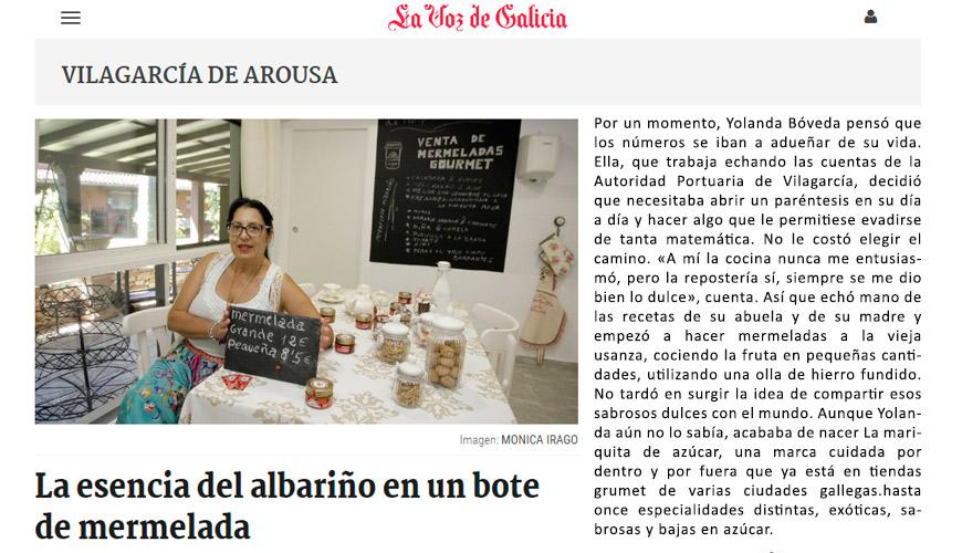 La Mariquita de Azúcar - La Voz de Galicia